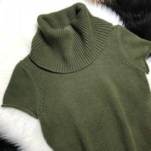BCBGMaxAzria Olive Green Cowl Neck Sweater
